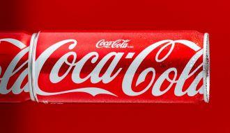 Canette de Coca-Cola, illustration d'une marque semi-figurative